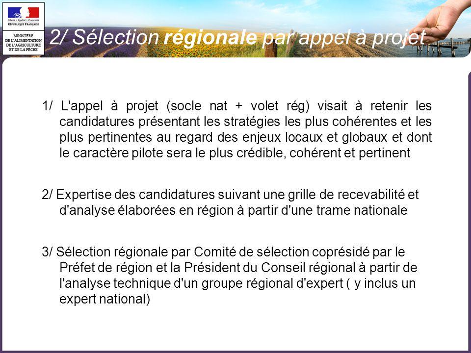  223 GAL sélectionnés en France par appel à projets régional  Programme de développement rural hexagonal (PDRH):  204 GAL ( dont 1 abandon)  Programmes régionaux :  Corse:4 GAL  Guadeloupe:6 GAL  Martinique:3 GAL  Guyane:4 GAL  Réunion:2 GAL 2/ En Chiffres