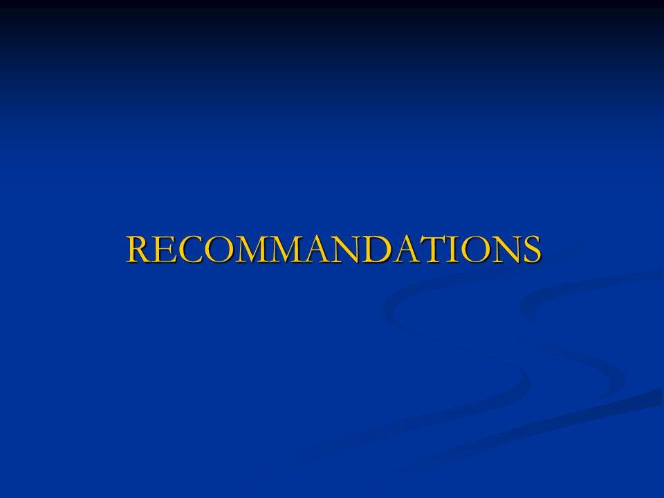 CONCLUSION (2) Le schéma de la prise en charge de l'accès palustre simple respecte les recommandations du MSP de la RG.