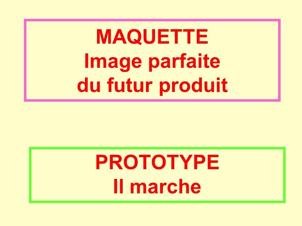 MAQUETTE Image parfaite du futur produit PROTOTYPE Il marche