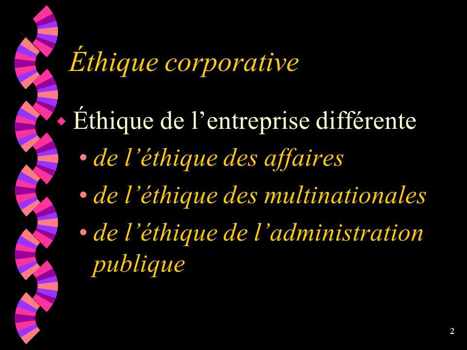 Éthique dans les organisations