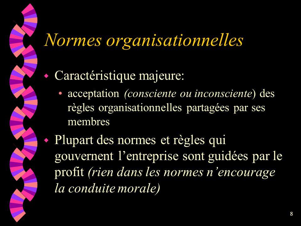 7 Le système de valeurs étant stable au départ... w Des conflits surviennent entre les individus ayant des valeurs différentes w Ex.: Individu intéres