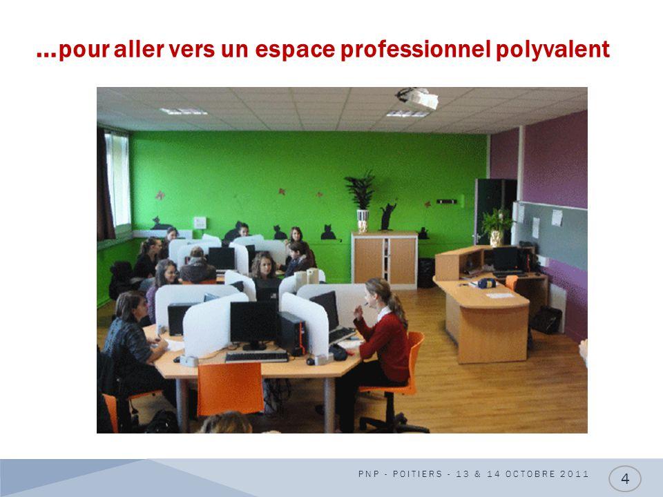 … pour aller vers un espace professionnel polyvalent PNP - POITIERS - 13 & 14 OCTOBRE 2011 4