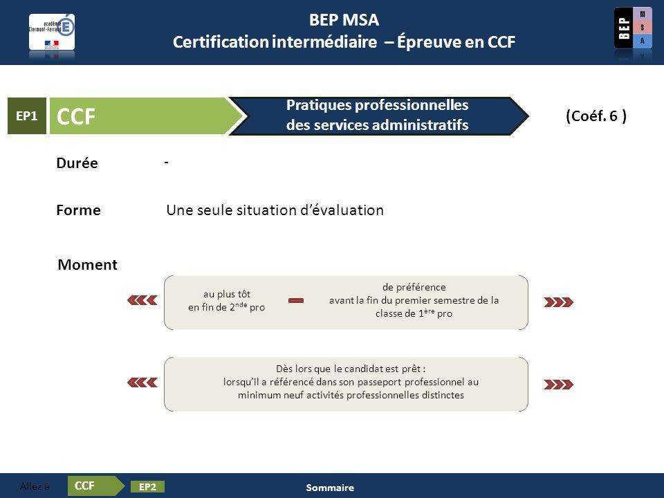 Contenu Certification en BEP MSA Les épreuves ❶ Activités à caractère TECHNIQUE Activités à caractère ORGANISATIONNEL Activités à caractère RELATIONNEL  L évaluation des activités professionnelles se fonde sur un suivi régulier réalisé dans le cadre normal de la formation.