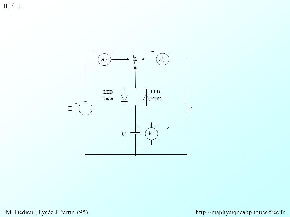 V A2A2 A1A1 R + + + - - - K E C LED rouge LED verte II / 1.