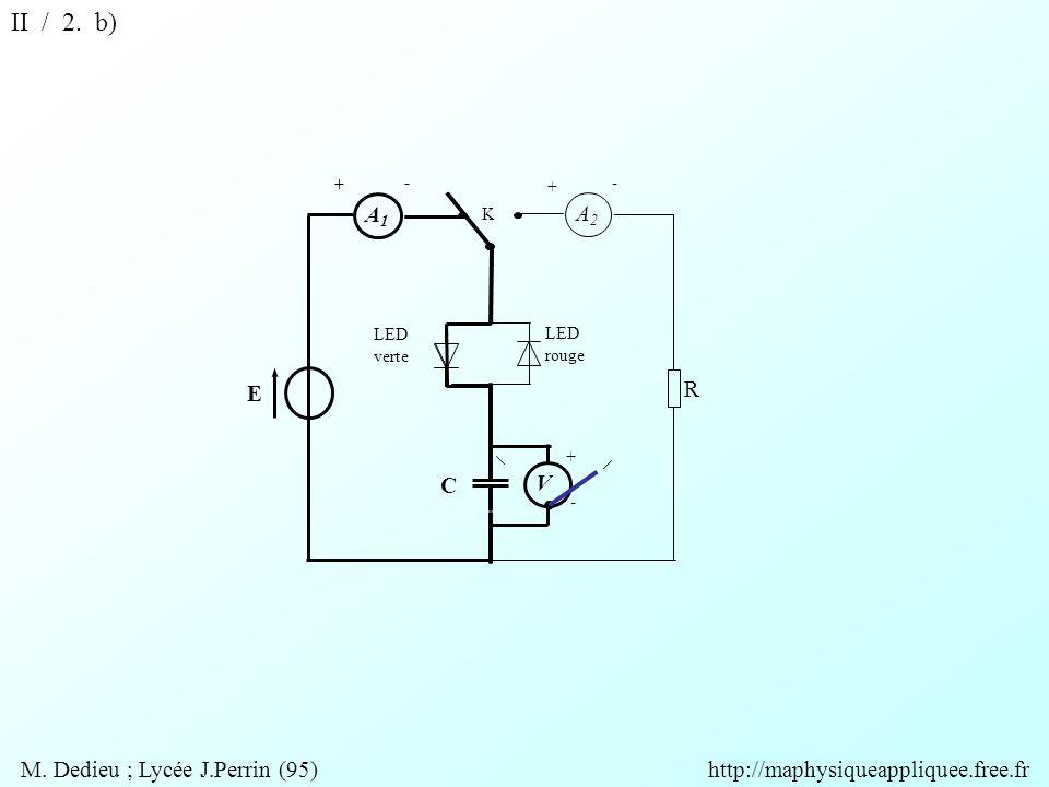 V A2A2 A1A1 R + + + - - - K E C LED rouge LED verte II / 2.