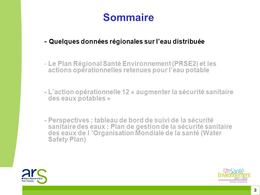 4 Données régionales sur les prélèvements d'eau - Volume global prélèvement : 480 millions de m 3 /an - Près du tiers (143 millions de m 3 ) : production d'eau potable - Plus d'un million d'habitants pendant la saison estivale en Charente-Maritime : forte capacité d'adaptation des acteurs, des moyens de production, de distribution et de contrôle de l'eau distribuée
