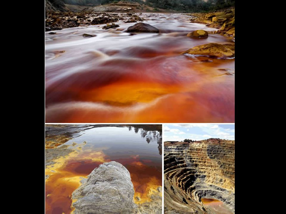Les grandes mines de Rivière Rouge créent un paysage surréaliste.