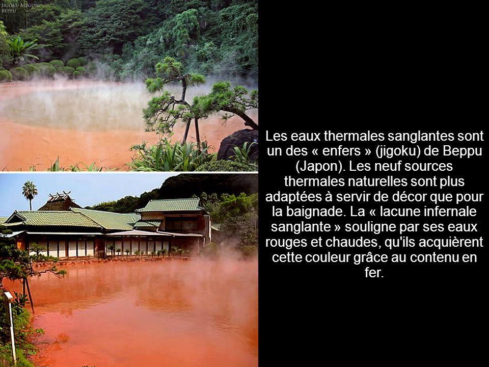 7. Eaux thermales sanglantes (Japon)