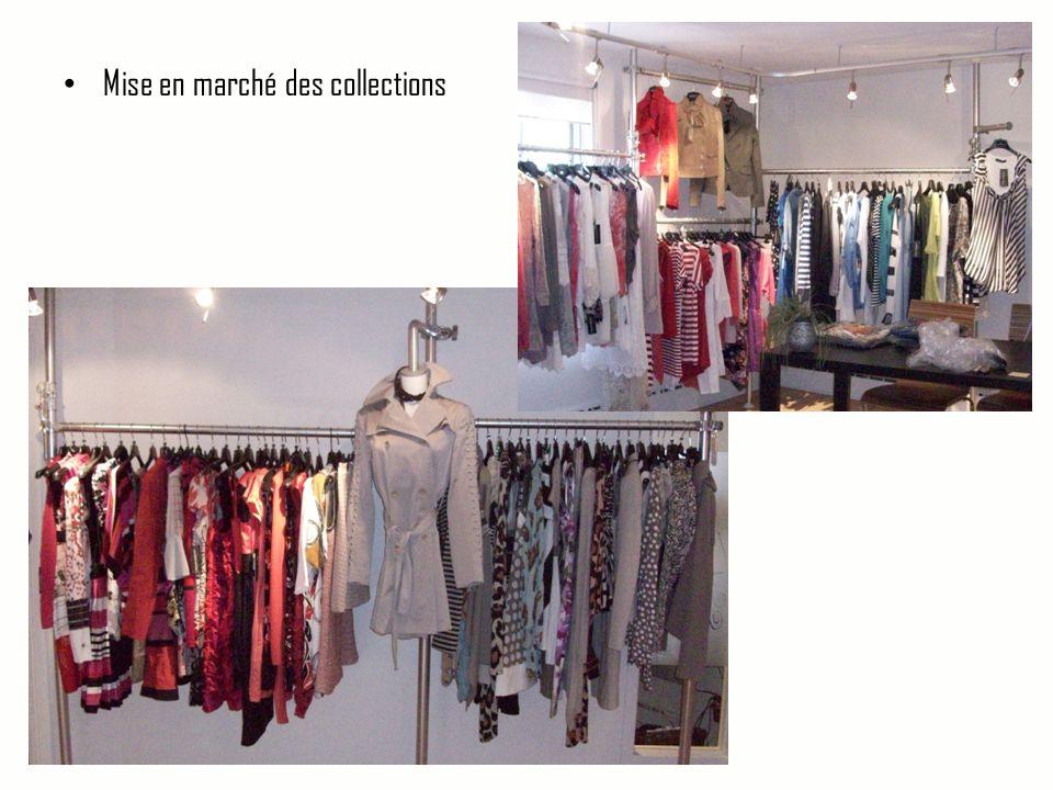• Mise en marché des collections