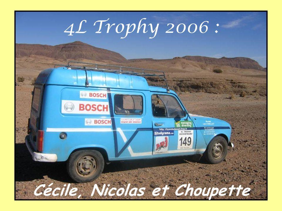 4L Trophy 2006 : Cécile, Nicolas et Choupette