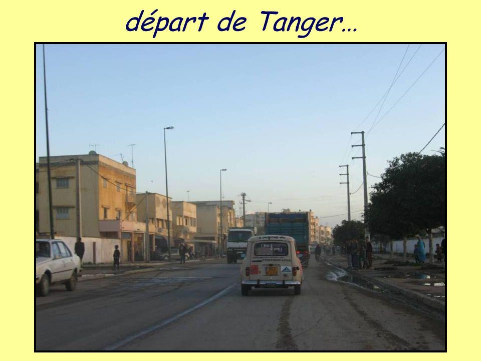 départ de Tanger…