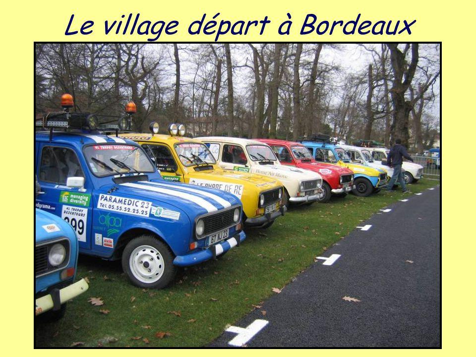 Le village départ à Bordeaux