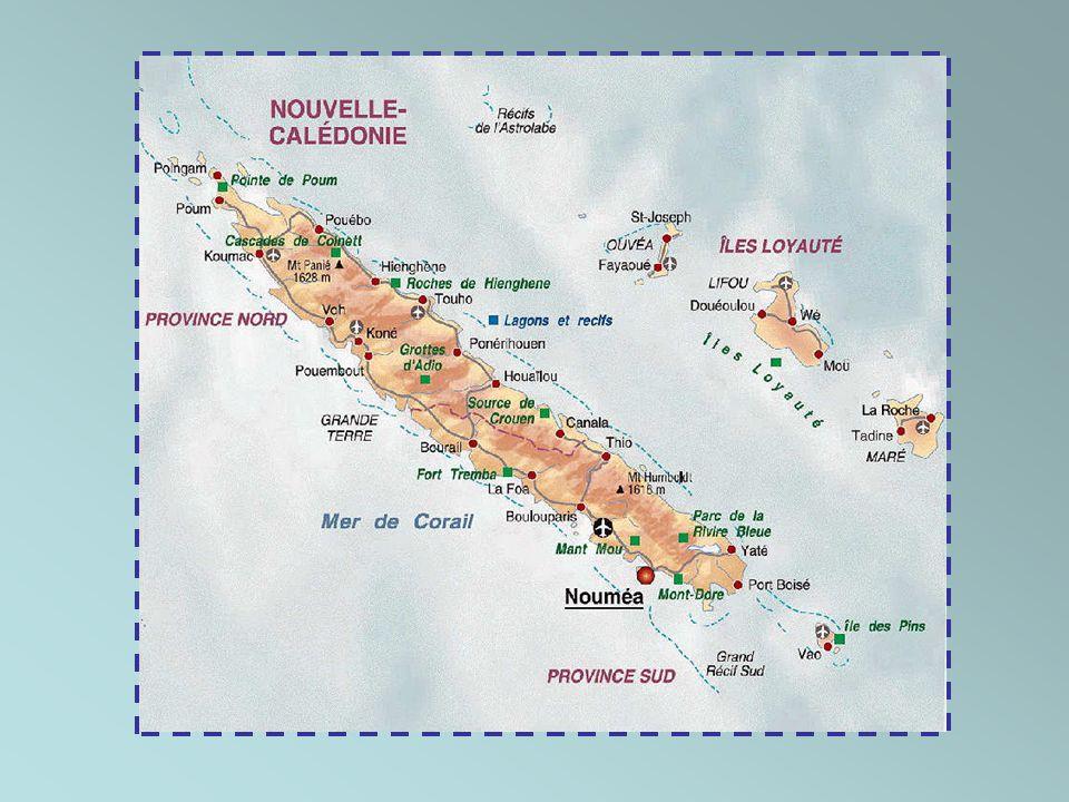 La Nouvelle-Calédonie est un archipel d'Océanie situé dans l'océan Pacifique à 1500 km à l'est de l'Australie et à 2000 km au nord de la Nouvelle- Zél