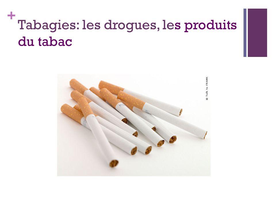 + Tabagies: les drogues, les produits du tabac