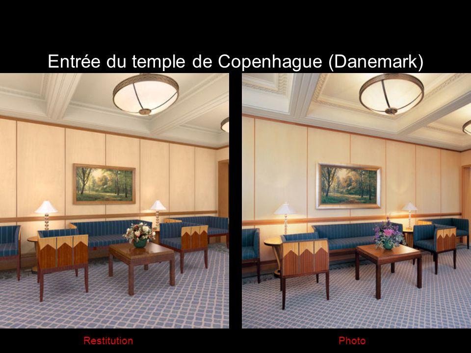 Entrée du temple de Copenhague (Danemark) PhotoRestitution