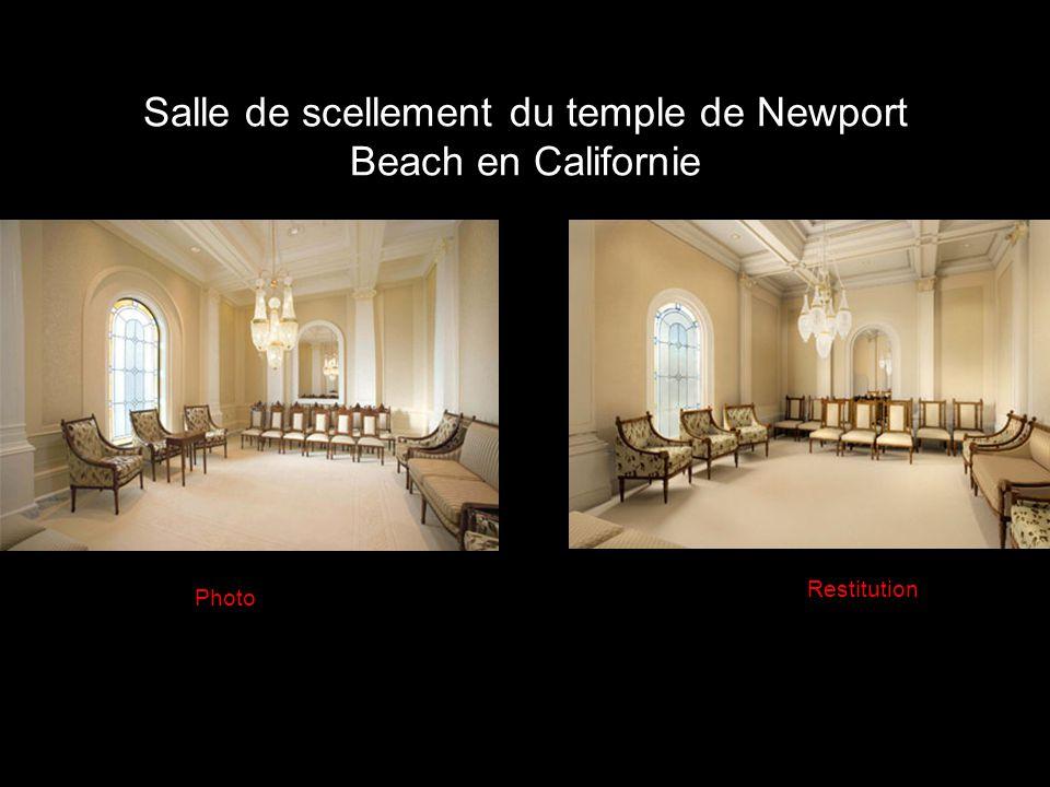 Salle de scellement du temple de Newport Beach en Californie Photo Restitution
