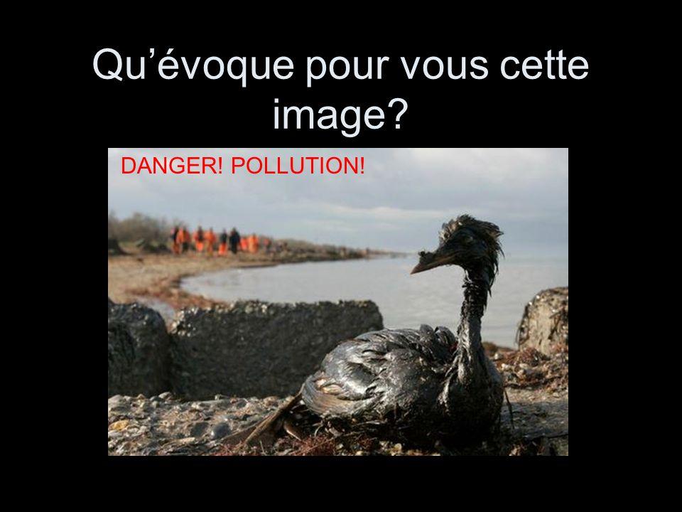 Qu'évoque pour vous cette image? DANGER! POLLUTION!