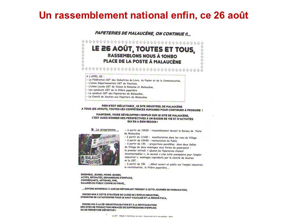 Un rassemblement national enfin, ce 26 août Dauphiné Libéré du 28 mai