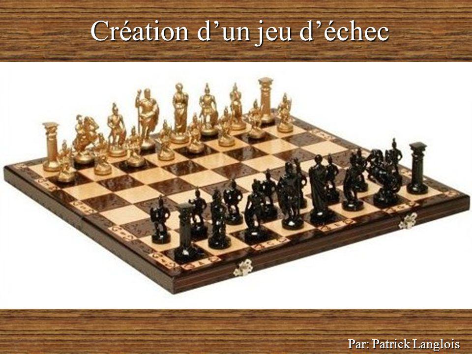 Création d'un jeu d'échec Par: Patrick Langlois