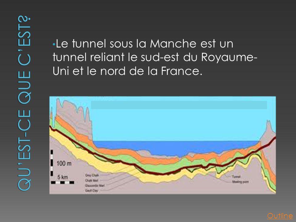 • Le tunnel sous la Manche est un tunnel reliant le sud-est du Royaume- Uni et le nord de la France. Outline