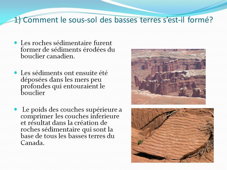 1) Comment le sous-sol des basses terres s'est-il formé.