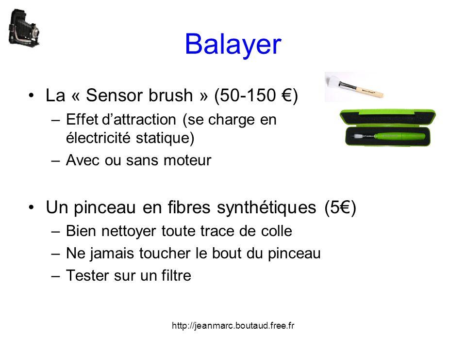 http://jeanmarc.boutaud.free.fr Balayer •La « Sensor brush » (50-150 €) –Effet d'attraction (se charge en électricité statique) –Avec ou sans moteur •