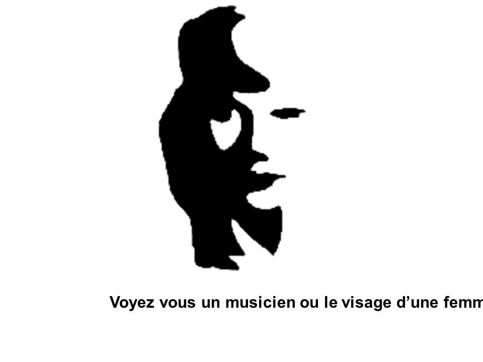 Voyez vous un musicien ou le visage d'une femme?