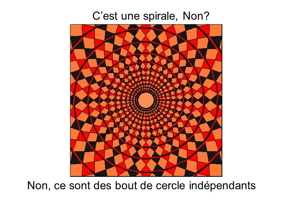 C'est une spirale, Non? Non, ce sont des bout de cercle indépendants