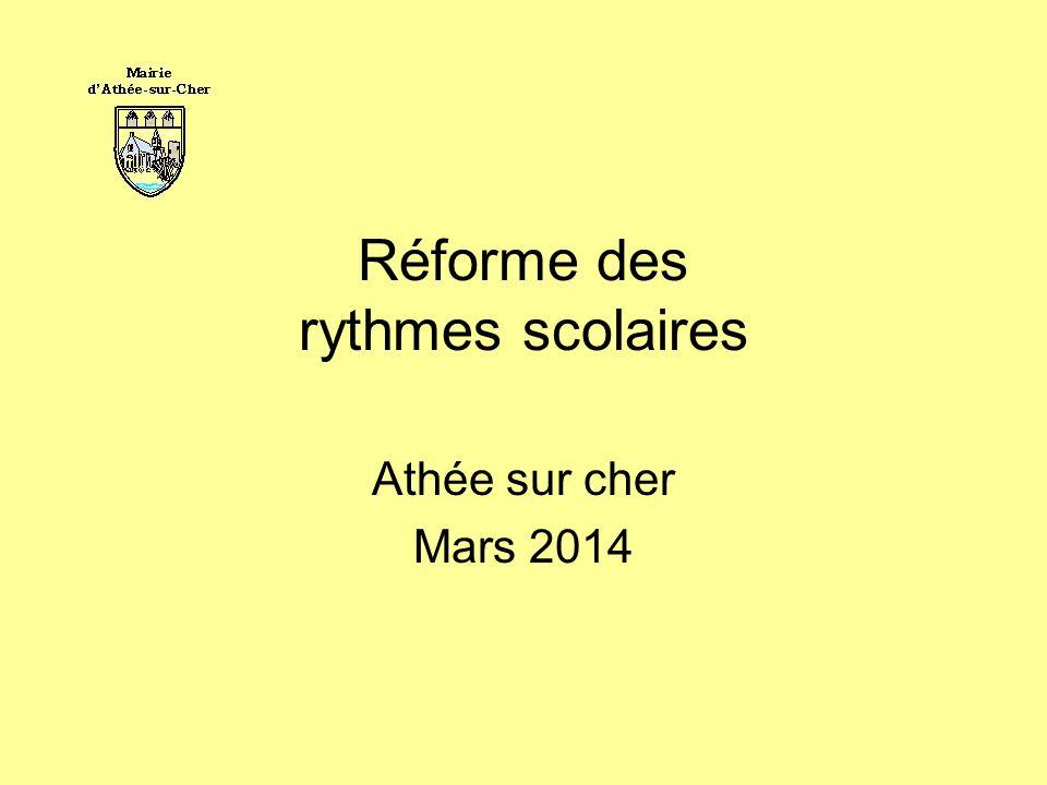 Réforme des rythmes scolaires Athée sur cher Mars 2014