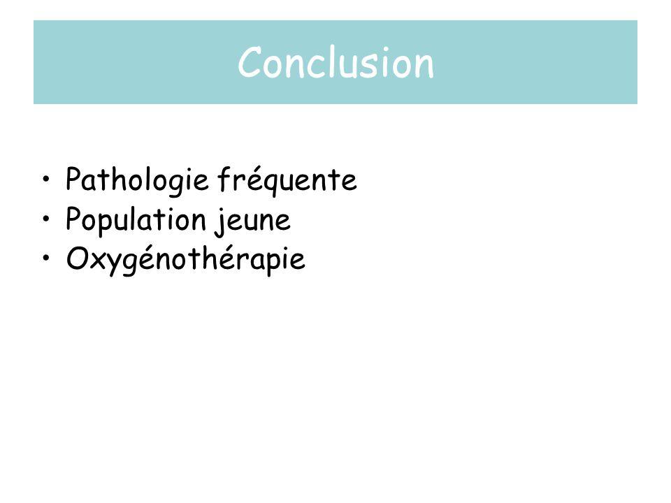 Conclusion •Pathologie fréquente •Population jeune •Oxygénothérapie