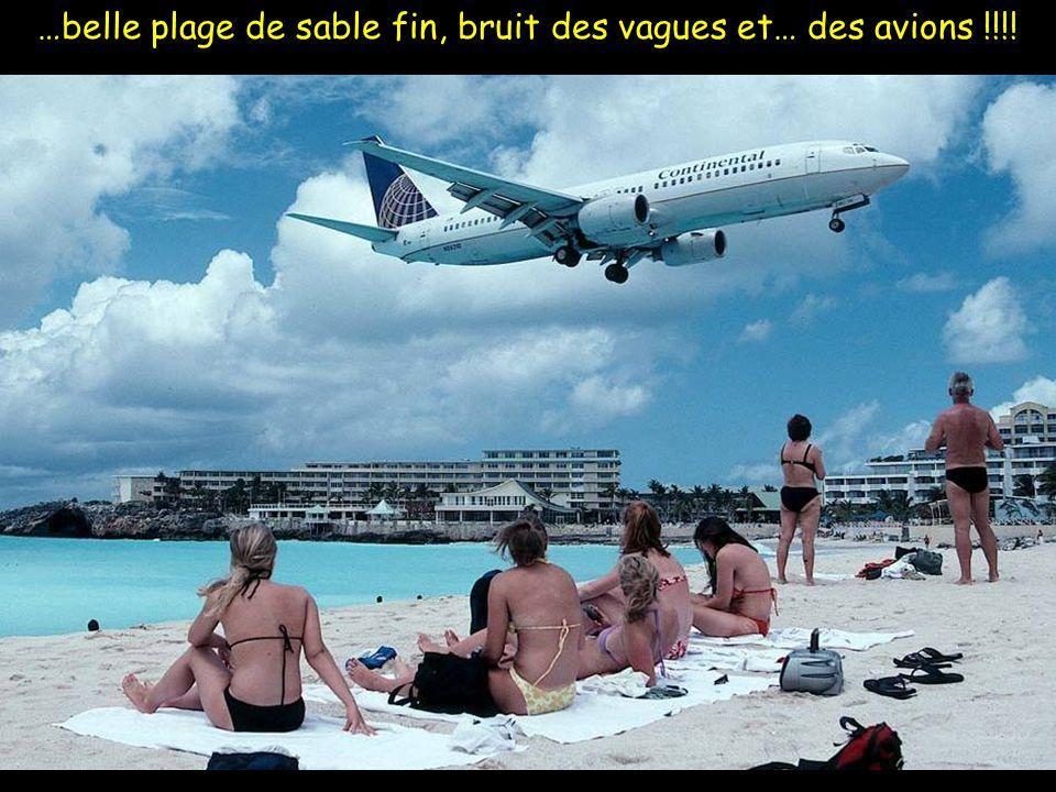 …un modèle de sécurité…lors des atterrissages, la circulation routière est arrêtée.