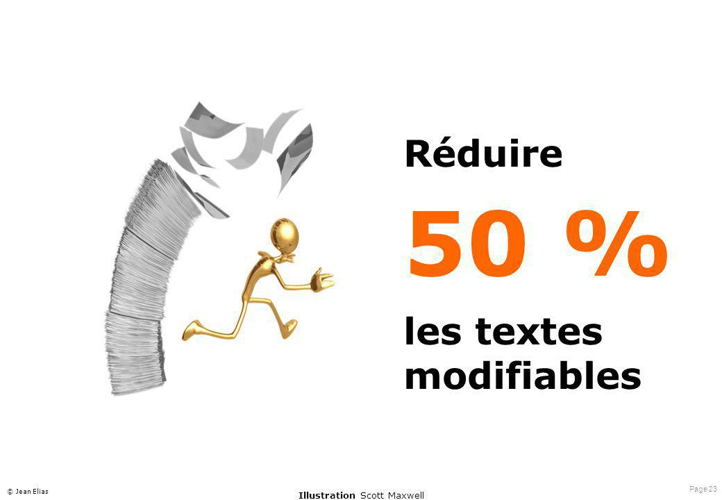 Page 23 © Jean Elias Réduire 50 % les textes modifiables Illustration Scott Maxwell