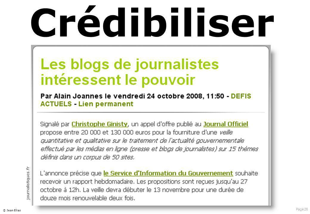 Page 25 © Jean Elias Crédibiliser journalistiques.fr