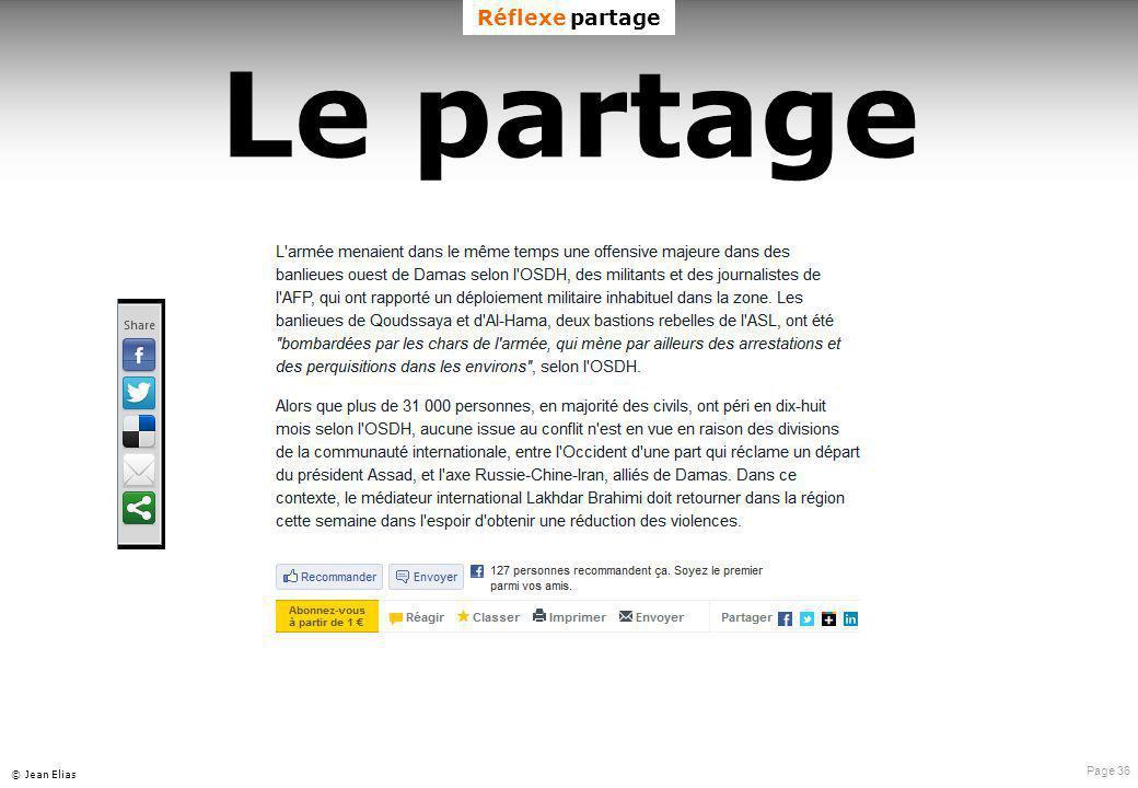 Page 36 © Jean Elias Le partage Réflexe partage