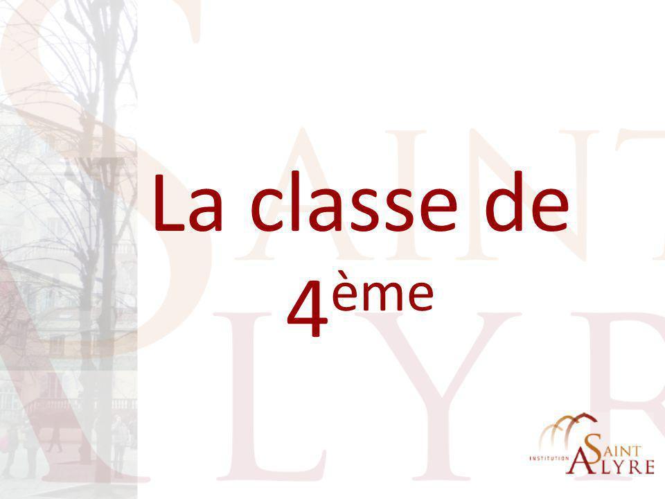 La 4 ème à Saint-Alyre  Changer de division .