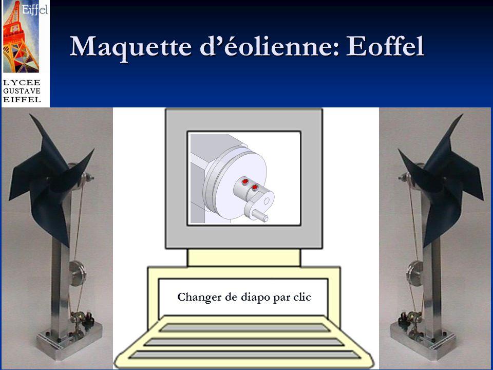 Maquette d'éolienne: Eoffel Changer de diapo par clic