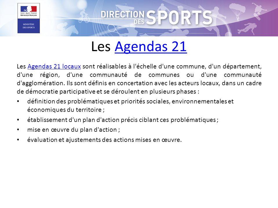 Les Agendas 21Agendas 21 Les Agendas 21 locaux sont réalisables à l'échelle d'une commune, d'un département, d'une région, d'une communauté de commune