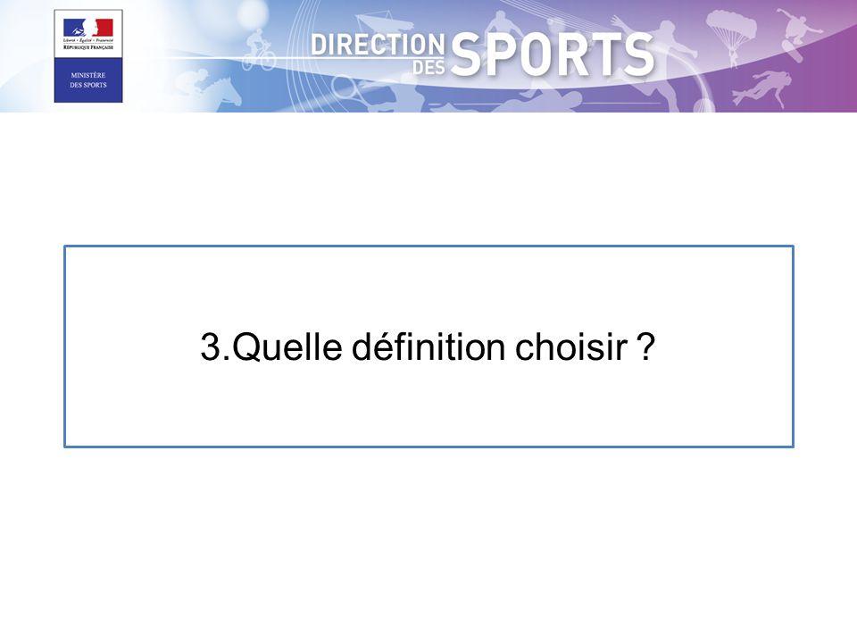 3.Quelle définition choisir ?