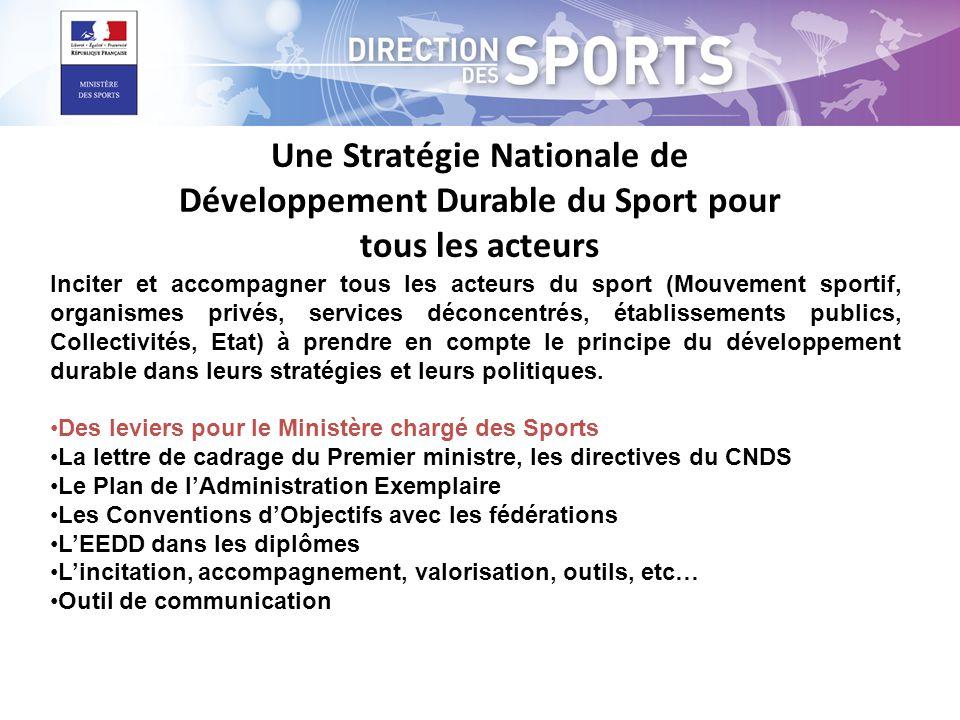 Inciter et accompagner tous les acteurs du sport (Mouvement sportif, organismes privés, services déconcentrés, établissements publics, Collectivités,