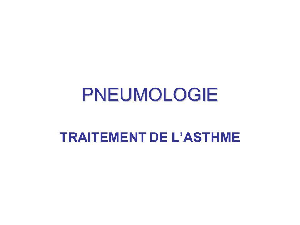 PNEUMOLOGIE TRAITEMENT DE L'ASTHME