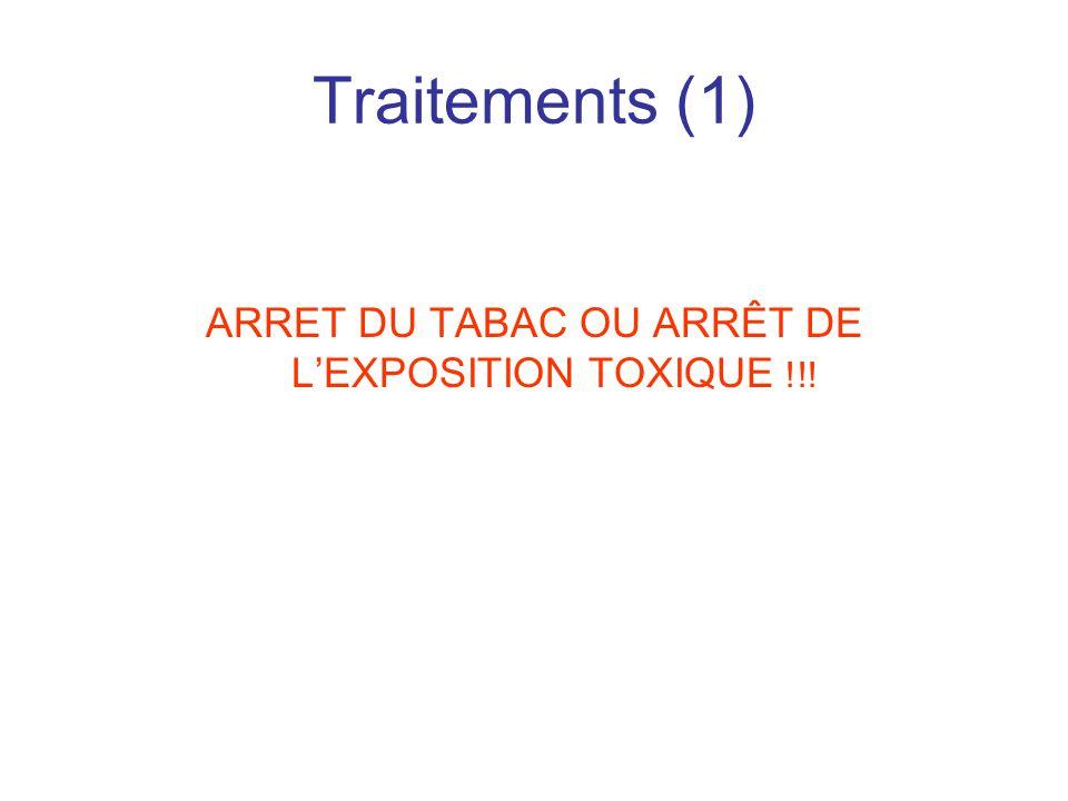 Traitements (1) ARRET DU TABAC OU ARRÊT DE L'EXPOSITION TOXIQUE !!!