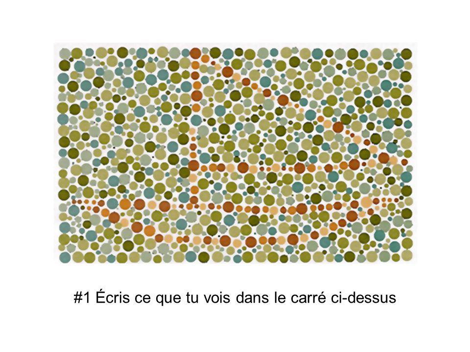 #1 Écris ce que tu vois dans le carré ci-dessus