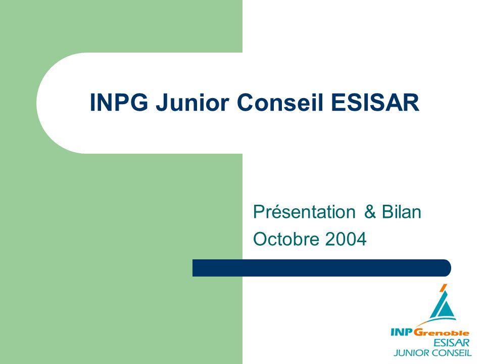 INPG Junior Conseil ESISAR Présentation & Bilan Octobre 2004