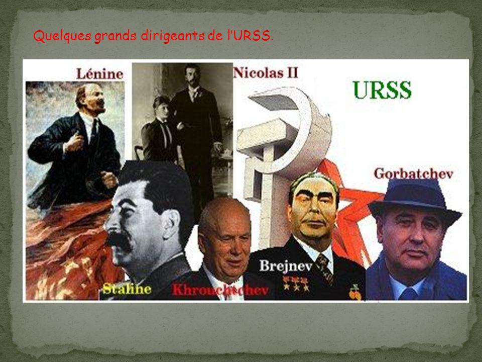 Quelques grands dirigeants de l'URSS.