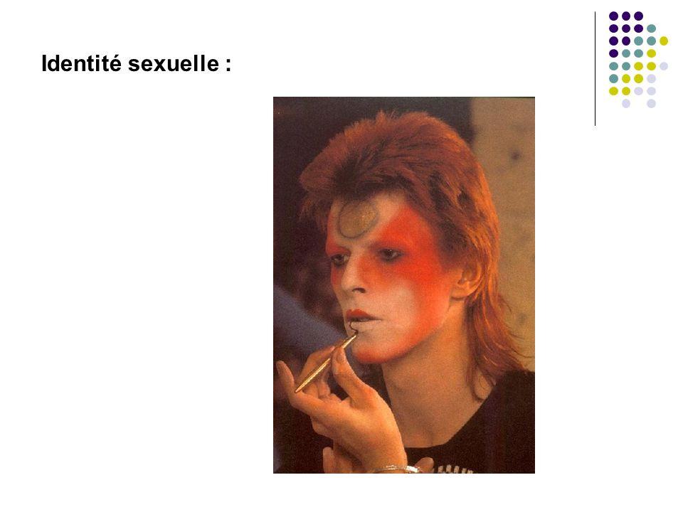 Identité sexuelle :