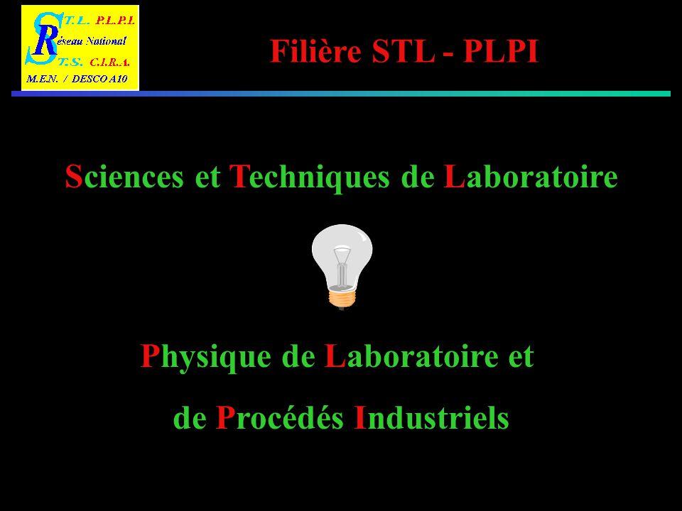 Filière STL - PLPI LES VOIES DE FORMATIONS 2 nde BEP BAC S.T.L.