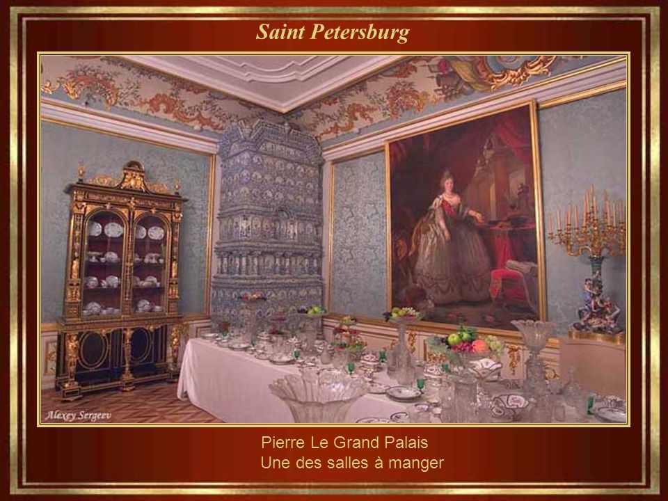 Saint Petersburg Pierre Le Grand Palais – architecture & Peintures