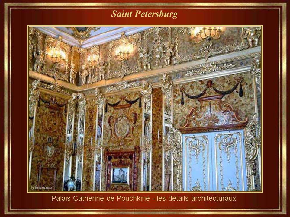 Saint Petersburg Le palais de Catherine, dans le style rococo. Il a été la résidence d'été des tsars de Russie, situé dans le quartier de Tsarskove au