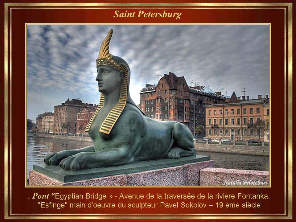 Saint Petersburg Monument du porteur d'eau Musée et administrations de Vodokanal.
