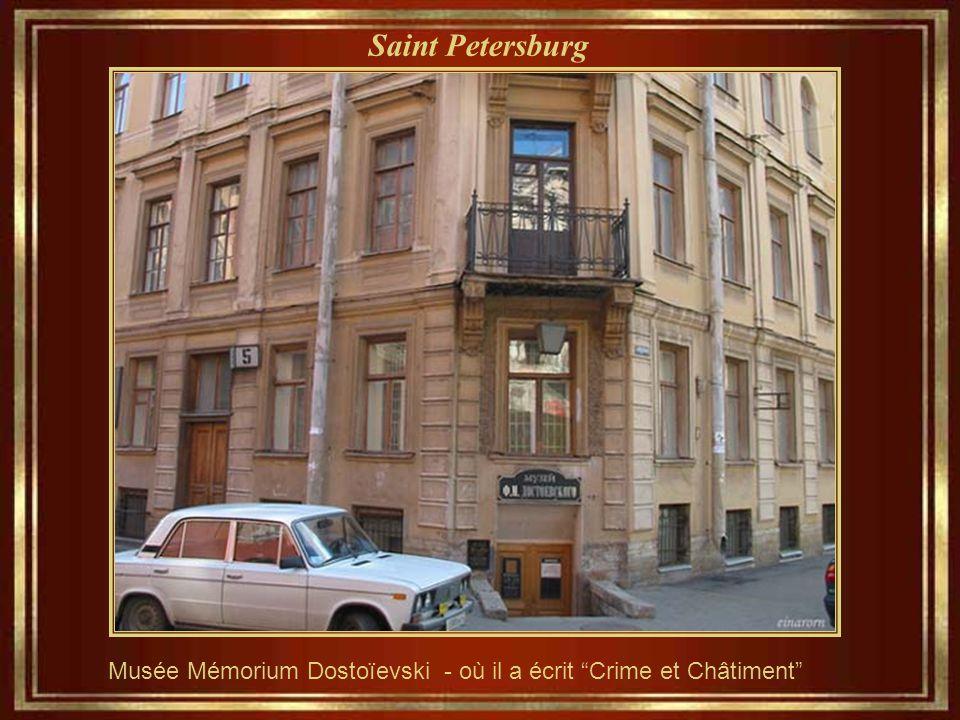 Saint Petersburg Fiodor Dostoïevski, l'écrivain dont les oeuvres,